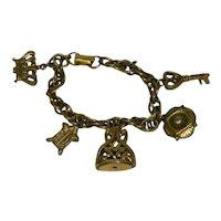 Old Coro Charm Bracelet