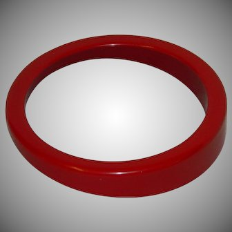 Vintage Abstract Cherry Red Lucite Bangle Bracelet
