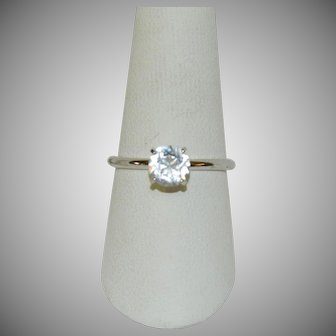 Gorgeous Uncas Signed 1ct CZ Solitaire Ring sz 10
