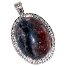 Night of the Cosmos Hand Made Navajo Blanket Jasper Pendant
