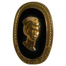 10kt Gold Filled Nurse Cameo Brooch Pin Bryman School