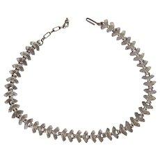 Vintage Asian Feel Fan Choker Necklace