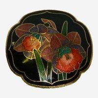 Cloisonne Enamel Lilies of the Valley Belt Buckle