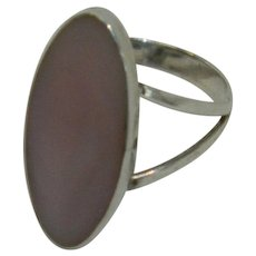 Mexico Pink Mother of Pearl Sterling Silver ring sz 4