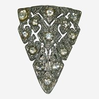 Beautiful Art Deco Paste Stone Fur Clip