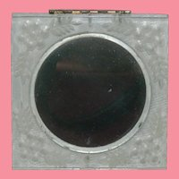 """Pristine """"Lucent"""" Clear Lucite Compact Powder Case Mirrors"""