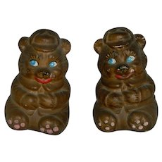 Victoria Ceramics Japan Teddy Bears Salt Pepper Shakers