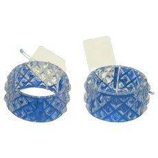Set of 2 Glass Napkin Rings