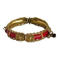 Interesting Belly Dancer Clamper Bangle Bracelet Bells,