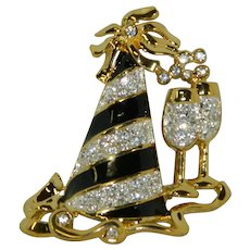 Super Fun Party Hat Brooch ¬ Celebration, New Years Day Champagne