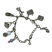Charming Charm Bracelet Silver Tone Krystal Kidz