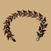 Matisse Renoir Copper Modernist Wing Link Bracelet