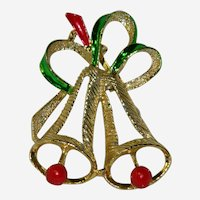 Large Gerry's Christmas Bells Brooch