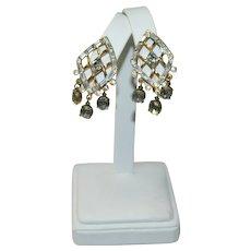 Best Baguette Rhinestone Dangler Earrings