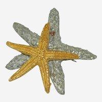 Rare Maurice Miller 1992 Double Starfish Shadow Brooch