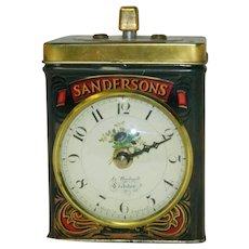 Neat Sanderson's English Tea Tin Kitchen Timer Ja Bucknell Credition Clock
