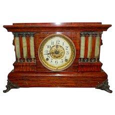1891 Seth Thomas Mantle Clock Wood Key Works!