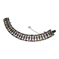 Lavish Upscale B. David Golden AB Baguette Rhinestone Bracelet