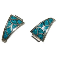 Genuine Turquoise Sterling Silver Watch Tips Watch Band