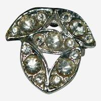 Art Deco Paste Stone Brooch Pendant