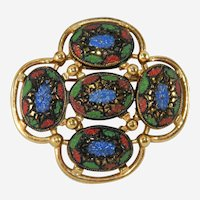 """Sarah Coventry """"Light of the East"""" Brooch Book Piece!!"""
