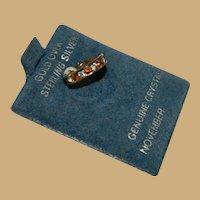 On Original Card Vermeil Citrine Crystal Ring Charm