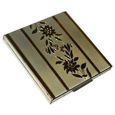 Elgin American Powder Compact in Original Terrycloth Case