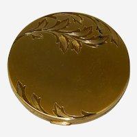 Elegant Elgin American Round Compact in Original soft Case