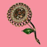 Bob Mackie Garden Flower Brooch Spring Collection