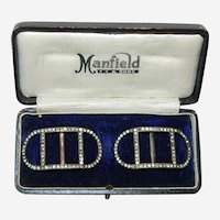 Manfield and Sons Paste Stone Gold Filled Shoe Buckles