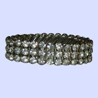 Japan Import Rhinestone Expansion Bracelet Pristine Condition