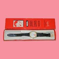 Jerry Lewis MDA Telethon Watch in Original Box Never Worn Pristine!