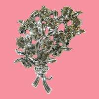 Hollycraft Corp. 1954 Marcasite Flower Bouquet Brooch