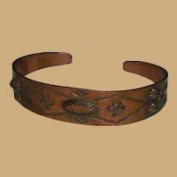 Native American Pure Copper Cuff Bracelet Thunderbirds Broken Arrows