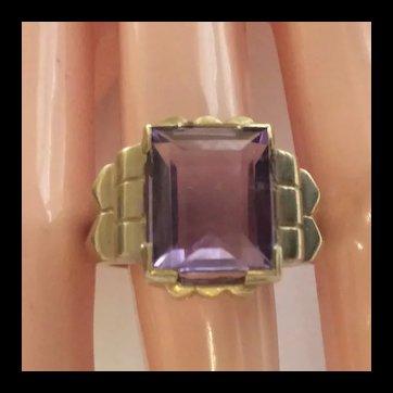 Art Deco Amethyst  18kt  Ring