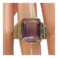 Art Deco Amethyst  18kt  Ring