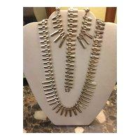 Necklace,Earrings,Bracelet  Sterling Set C:1940 Devine