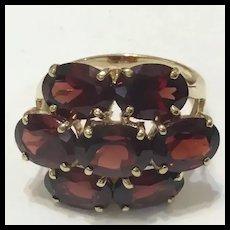 Deco Garnet Ring, 10 Carats Stunning!