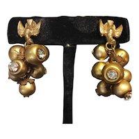 Miriam Haskell Gold Bird Earrings SALE !