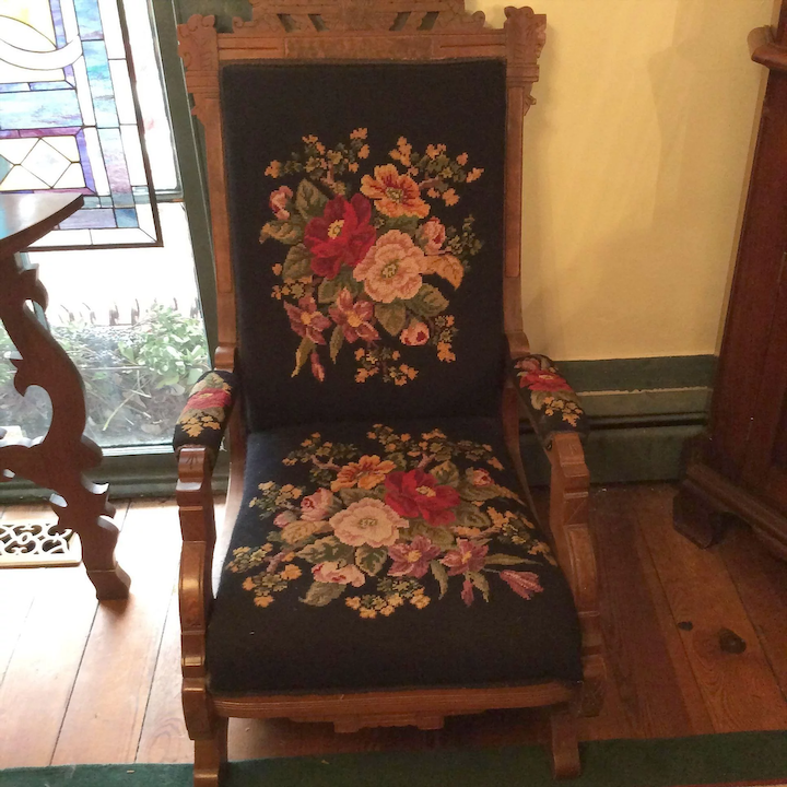pretty nice 922a3 f96be Victorian Needle Point Platform Rocking Chair SALE !