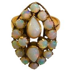 DECO Opal Ring 18kt C:1940 Eight Karats