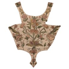 Early 18 th century embroidered dress panel. Silk . English
