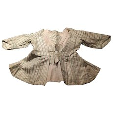 A striped Carcaci. French 1770 to 1800. Silk