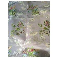 18th century English silk dress panel