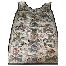 18 th century Chasuble ,embroidered front panel.