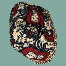 19 th century Dutch chintz child's cap.