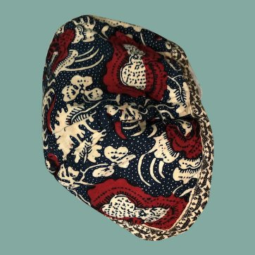 19 th century Dutch chintz child's cap.