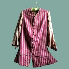 Mid 18th century gentlemen's silk waistcoat.