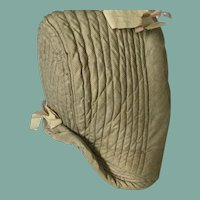1860 silk bonnet for a child . Suitable for a doll. English quilted .