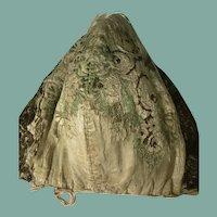 Early 18 th century Spitalfields silk child's/dolls bonnet.  English